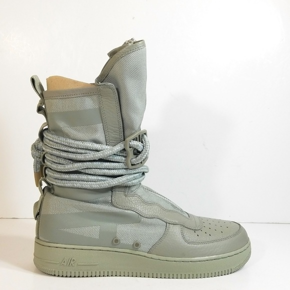 NIKE AIR FORCE 1 HIGH SF Sage Grey Mens Sneakers Size 11 New with Box Laces